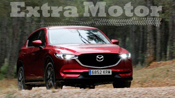 Prueba Mazda CX-5, tres cuartos trasero, tres cuartos delantero