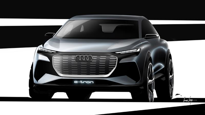 Audi Q4 e-tron concept, frontal