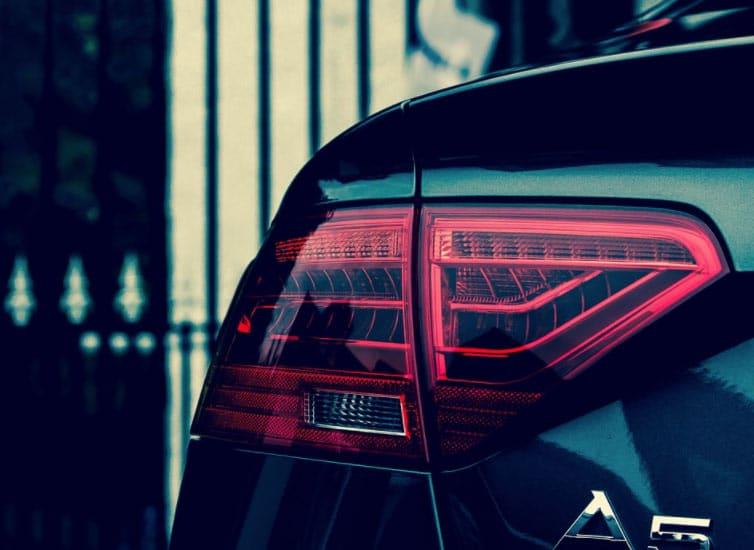 faro trasero del Audi A5
